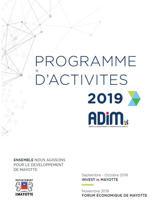 Programme d'activités 2019